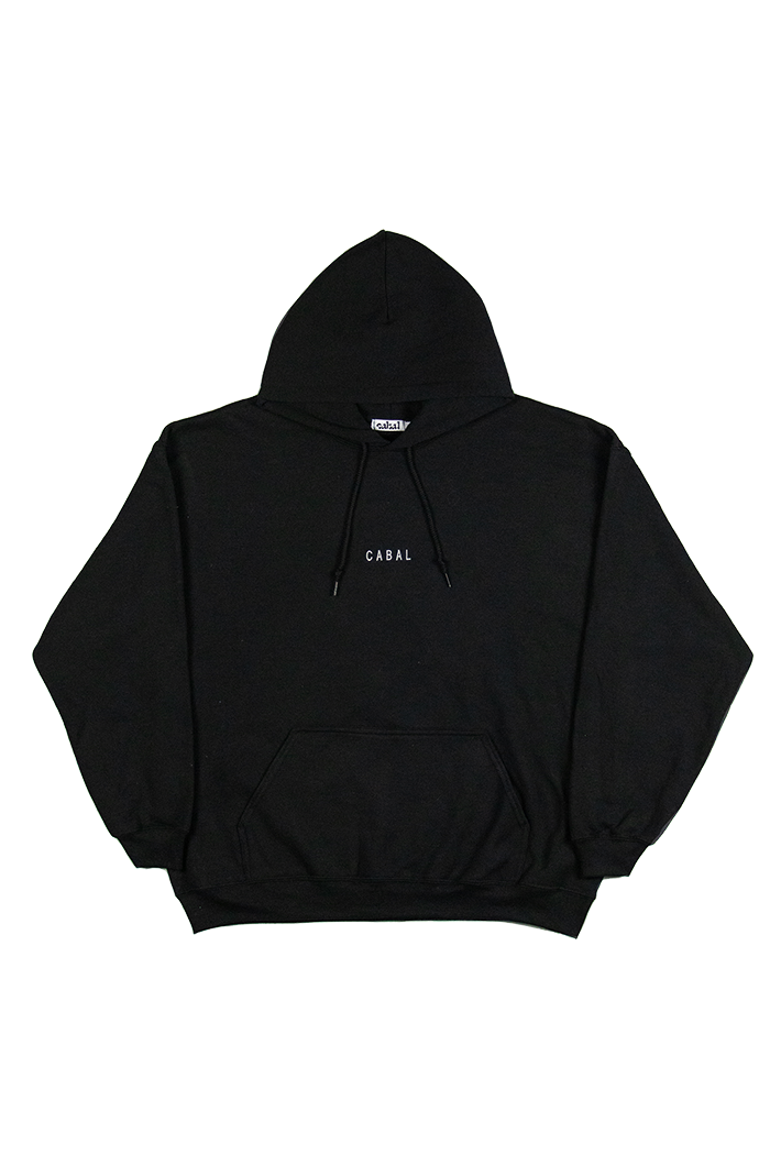 Front Image of Hoodie with Cabal embroidered front & center